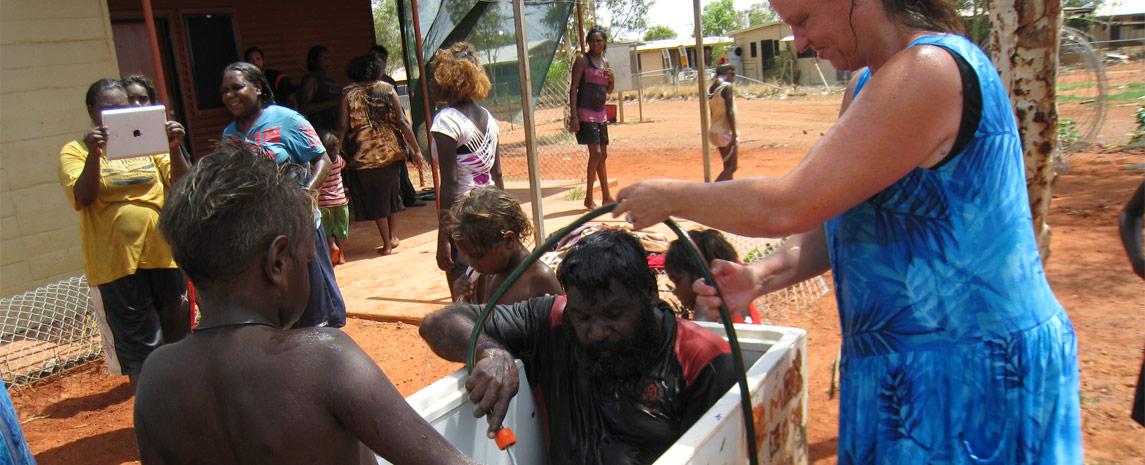 Aborigional Communities getting Baptised!