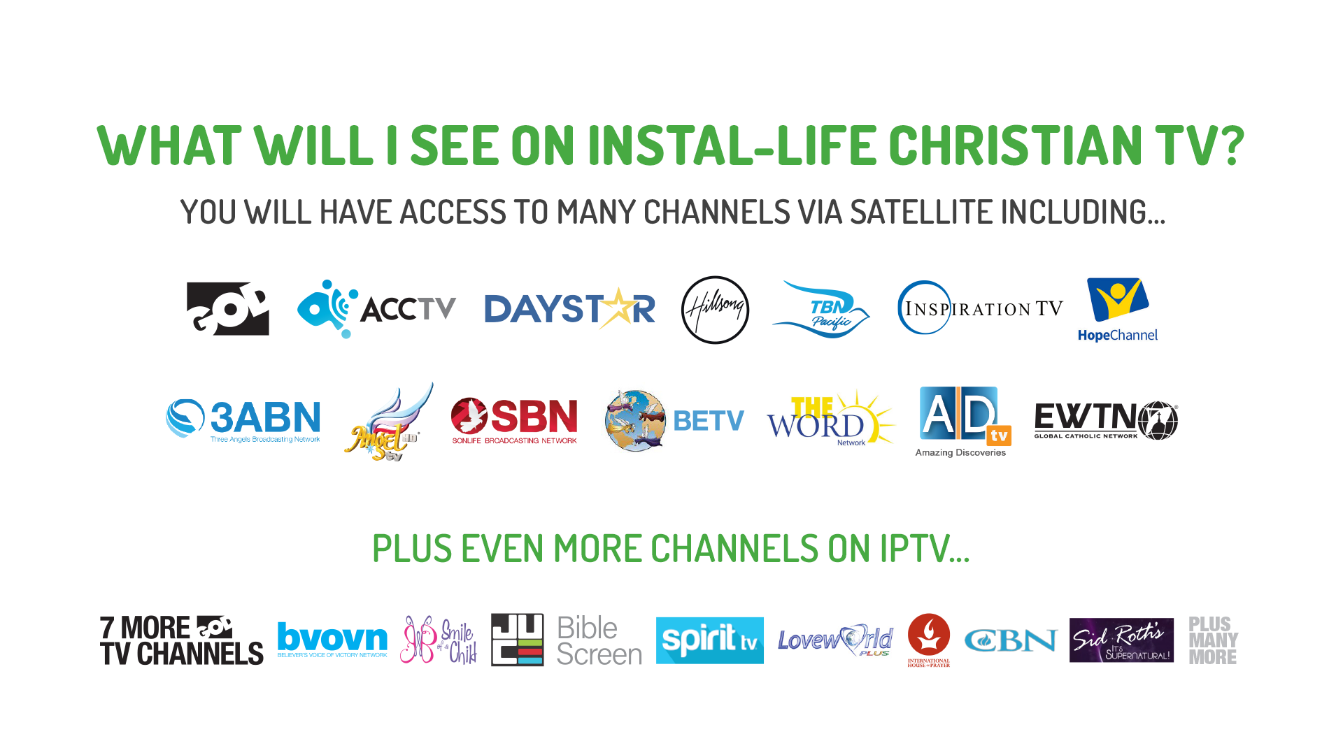 Instal-Life HD Christian Satellite TVWatch What Matters - Instal